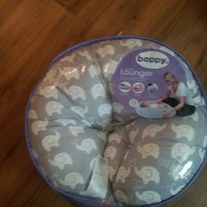 Boppy lounger pillow with elephants NIB
